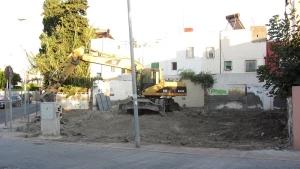 Obras nueva sede 2011: Movimiento de tierras