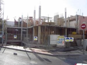 Obras nueva sede 2012: La estructura se eleva